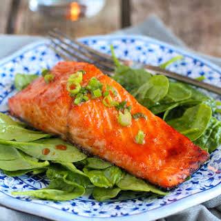 Soy Honey Glazed Salmon.