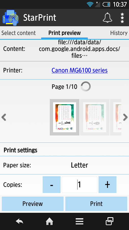 StarPrint - Mobile Print App- screenshot