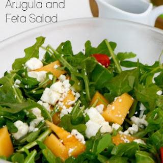 Cantaloupe, Arugula and Feta Salad.