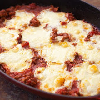 Polenta Sausage Mozzarella Casserole Recipe
