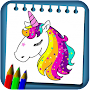 Unicorns Coloring Drawing Book New Coloring Pages APK icon