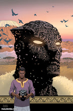 Photo: BLACK PANTHER #12 Variant Cover. 2016. Ink(ed by Joe Rivera) on bristol board with digital color, 11 × 17″.