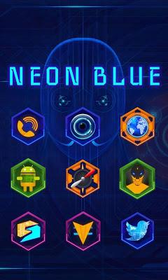 Neon Blue GO Launcher - screenshot