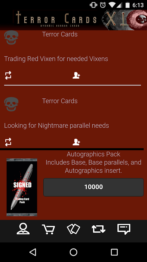 Terror Cards- screenshot
