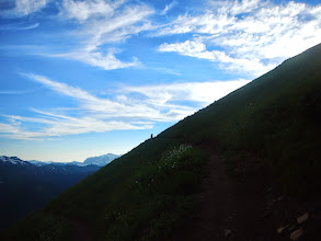 Photo: Hiker on the edge of the trail