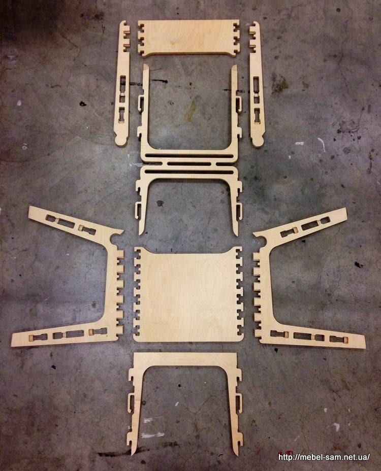Все детали стула в разобранном виде