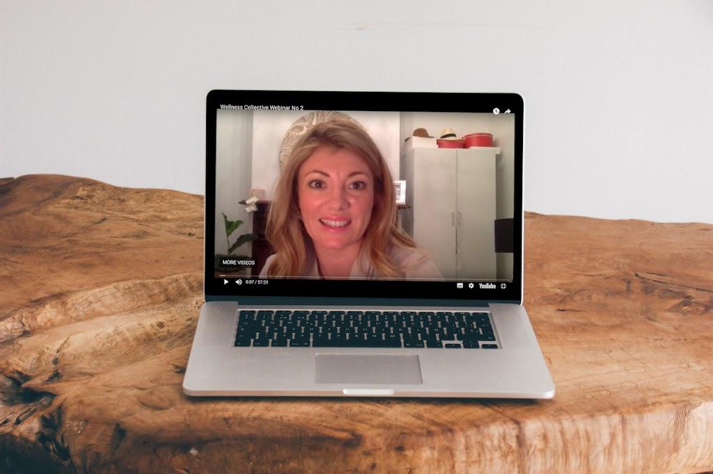Sleep webinar on laptop
