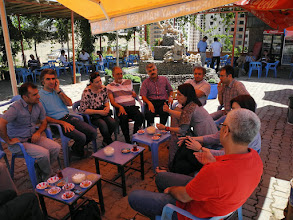 Photo: with academics from Artuklu University Kurdish Language and Culture Institute (actually the institute is called Living Language and Culture Institute), Mardin, North Kurdistan (Turkey)