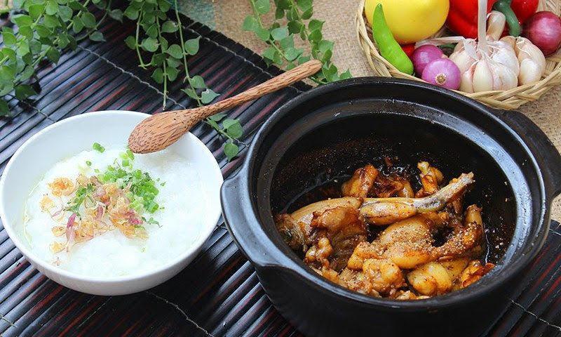Cách nấu cháo ếch Singapore ngon thơm bổ dưỡng