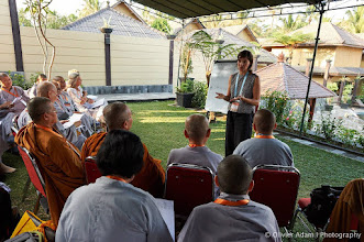 Photo: More than ten interactive workshops are running every day during the 14th Sakyadhita Conference. Courtesy of Olivier Adam.