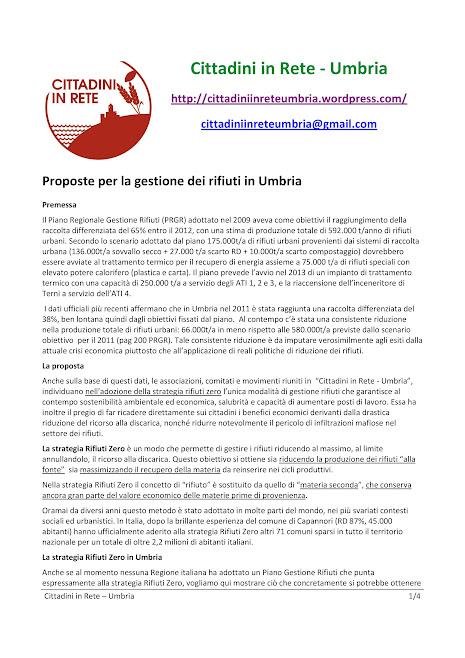 Cittadini in Rete - Proposte per la gestione dei rifiuti in Umbria - Perugia, 16 maggio 2012