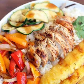 Grilled Hawaiian Chicken Teriyaki Bowls.