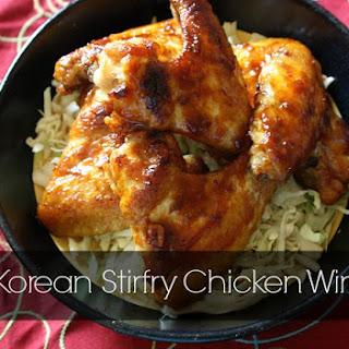 Korean Stir Fry Chicken Wings