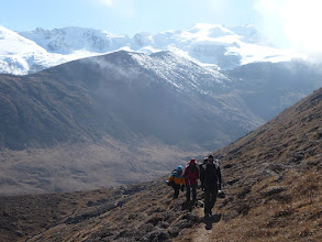 Photo: The guys hiking to Hunku valley
