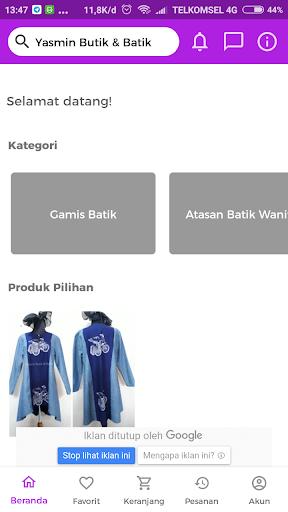 Yasmin Butik   Batik screenshot 1 ... f7558608a7