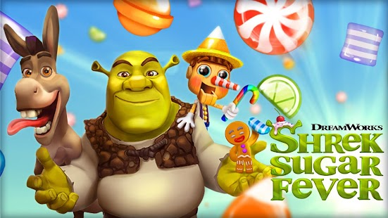 Shrek Sugar Fever - Puzzle Games Screenshot