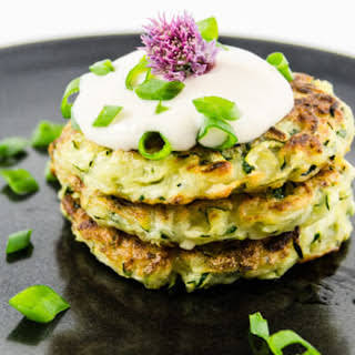 Quick and Easy Zucchini Fritters [Vegan, Gluten-Free].