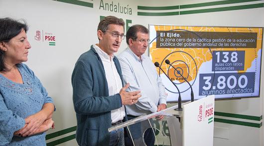 """PSOE: """"Hay 3.800 alumnos en aulas masificadas en El Ejido"""""""
