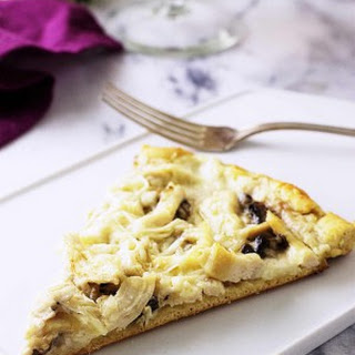 Chicken-Mushroom Pizza with Einkorn Crust