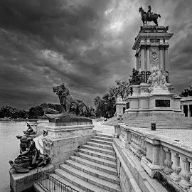 Alfonso XIII by Jomabesa Jmb - Black & White Buildings & Architecture ( alfonso xiii, el retiro, madrid, bn, lago,  )