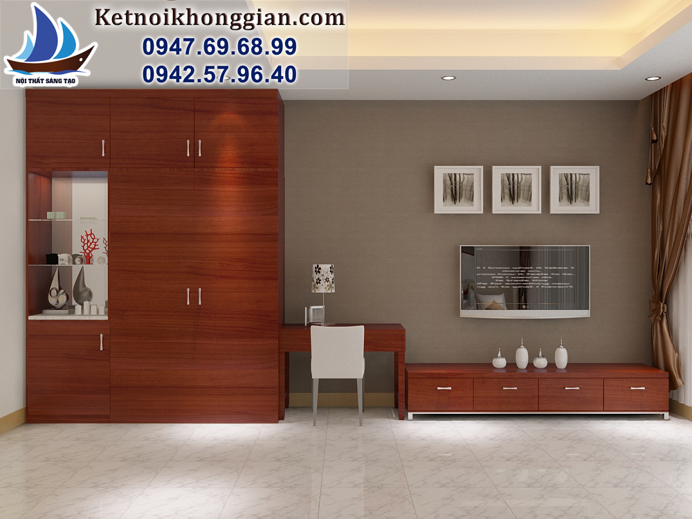 thiết kế phòng ngủ 2 giường khách sạn palace