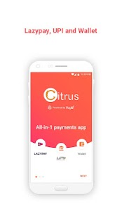 LazyPay, Wallet & UPI on the All-in-1 Citrus app Screenshot