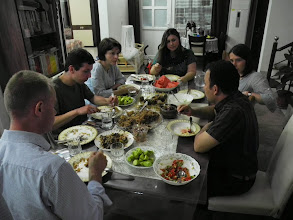Photo: As guests at our friend - dr Ferhang Muhamad's house, Hawler.