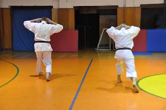Photo: Den karate v rámci hodin tělesné výchovy (tělocvična školy, čtvrtek 17. leden 2013).