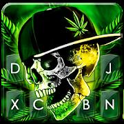 Rasta Weed Skull Keyboard Theme