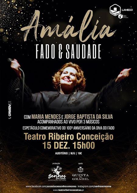 Teatro Ribeiro Conceição apresenta espetáculo de homenagem a Amália
