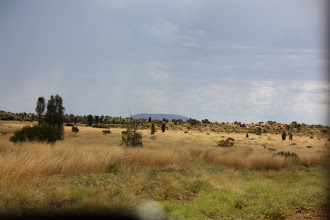 Photo: Year 2 Day 218 - First Glimpse of Uluru (40Kms Away)