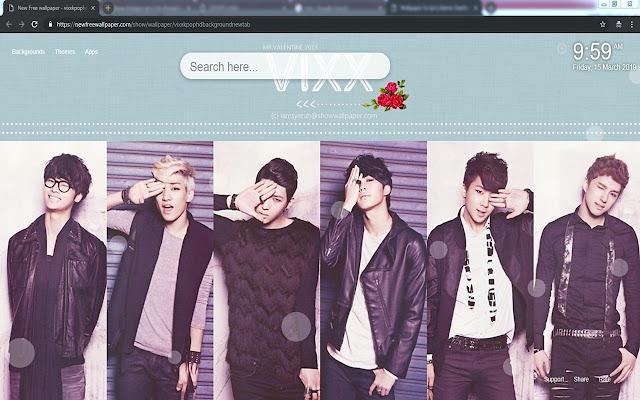 Vixx kpop HD backgrounds newtab