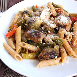Roasted Vegetable Pesto Sausage Penne