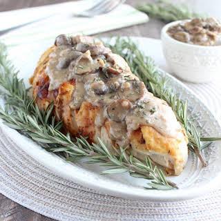 Pressure Cooker Turkey Breast with Mushroom Gravy.