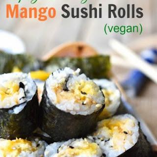 Spicy Crunchy Mango Sushi Rolls (#TakeBackSchoolLunch).