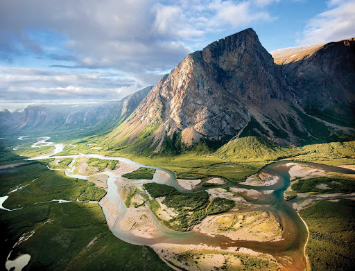 Stunning view of Torngat Mountains National Park at the northern tip of Newfoundland and Labrador.