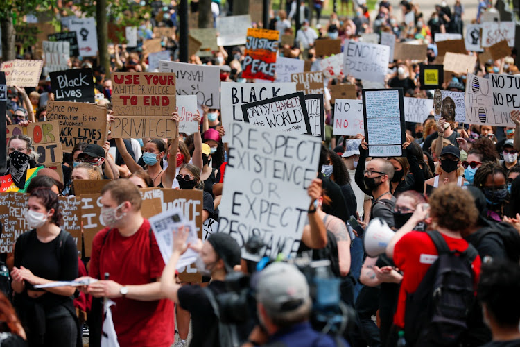 Protesters in Boston, Massachusetts, the US, June 3 2020. Picture: REUTERS/BRIAN SNYDER