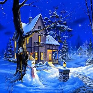 Vánoční Noc Živé Tapety