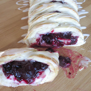 Cherry Cheese Danish With Vanilla Glaze