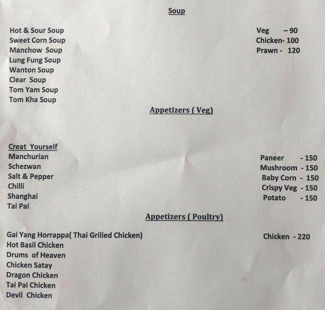 The Kim Chi Chef menu 1