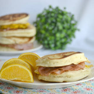 Easy Pancake Breakfast Sandwiches.