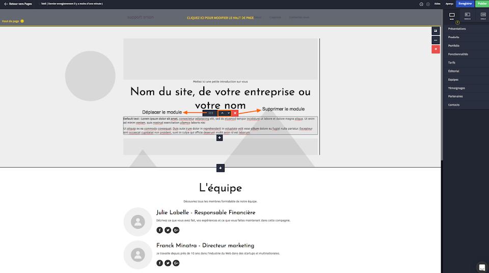 Personnaliser le contenu de ma page web