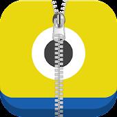 Funny Minion Zipper Screenlock