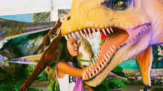 Más e 30 especies de Dinosaurios a tamaño real en el Salón Infantil y Juvenil Érase una vez en Aguadulce.