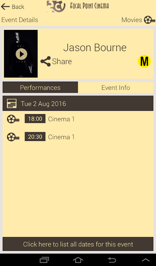 Focal Point Cinemas- screenshot