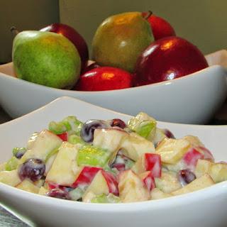 Apple Salad with Honey Yogurt Dressing.