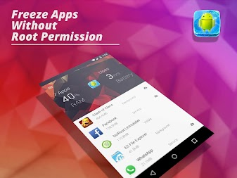 App Freezer: Force stop background apps (No root) APK screenshot thumbnail 1
