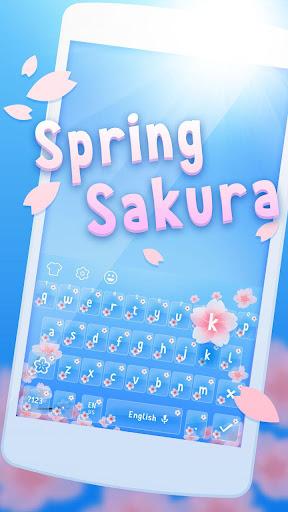 Spring Sakura Cheetah Keyboard 1.1.1 screenshots 1