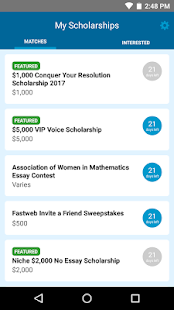 Fastweb College Scholarships- screenshot thumbnail