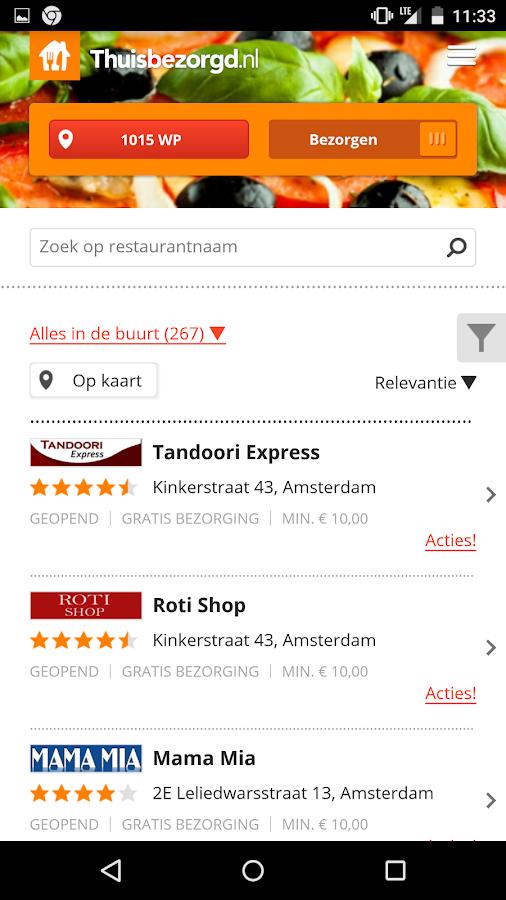 Thuisbezorgd.nl - Order food - screenshot